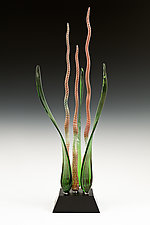 Chameleon Dancing Waters by Warner Whitfield and Beatriz Kelemen (Art Glass Sculpture)