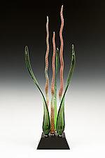 Chameleon Dancing Waters by Warner Whitfield and Beatriz Kelemen (Art Glass Sculpture)