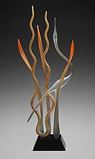 Dancing In The Marsh-Autumn by Warner Whitfield and Beatriz Kelemen (Art Glass Sculpture)