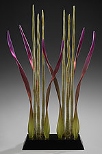 Tango Dancers, Mystic by Warner Whitfield and Beatriz Kelemen (Art Glass Sculpture)