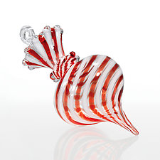 Peppermint Perfection by James F. Byrnes (Art Glass Ornament)
