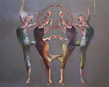 Movement in Four by Cathy Locke (Oil Painting)