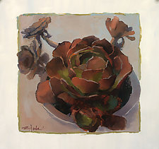 Cactus Rosette by Cathy Locke (Oil Painting)