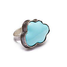 Enamel Cloud Ring by Lisa Crowder (Enameled Ring)