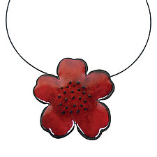 Enamel Flower Necklace by Lisa Crowder (Enameled Necklace)