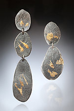 Mirage Earring #3 by Nina Mann (Gold & Silver Earrings)