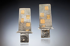 Domino Earrings by Nina Mann (Gold, Silver & Stone Earrings)