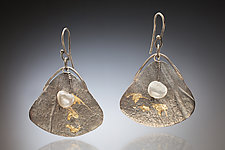 Mirage Earring #1 by Nina Mann (Gold, Silver & Stone Earrings)