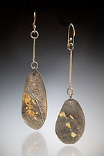 Mirage Earring #2 by Nina Mann (Gold & Silver Earrings)