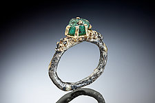 Asami Ring by Nina Mann (Gold, Silver & Stone Ring)