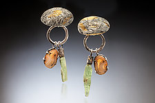 Lyra Earrings by Nina Mann (Gold, SIlver & Stone Earrings)