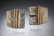 Statement Earrings by Nina Mann (Gold & Stone Earrings)