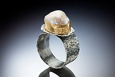 Haukea Ring by Nina Mann (Gold, Silver & Stone Ring)