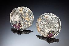 Nala Earrings by Nina Mann (Gold, Silver & Stone Earrings)