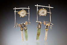 Tai Earring by Nina Mann (Gold, Silver & Stone Earrings)