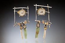 Tai Earring by Nina Mann (Gold, Silver & Stone Earrings)