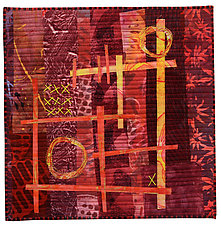 Foot Square I by Catherine Kleeman (Fiber Wall Hanging)