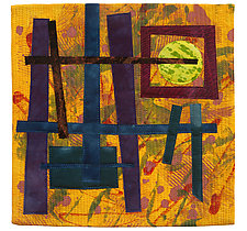 Foot Square VI by Catherine Kleeman (Fiber Wall Hanging)