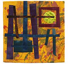 Foot Square VI by Catherine Kleeman (Fiber Wall Hanging)