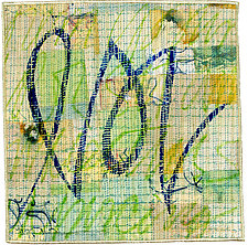 Scribble #12 by Catherine Kleeman (Fiber Wall Hanging)