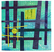 Foot Square VII by Catherine Kleeman (Fiber Wall Hanging)