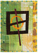 Five by Seven IV by Catherine Kleeman (Fiber Wall Hanging)