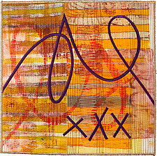 Scribble #16 by Catherine Kleeman (Fiber Wall Hanging)