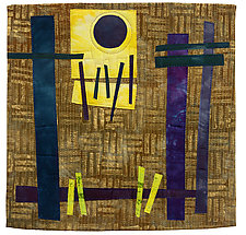 Foot Square V by Catherine Kleeman (Fiber Wall Hanging)