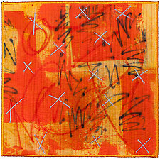 Scribble #15 by Catherine Kleeman (Fiber Wall Hanging)