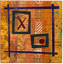 Foot Square III by Catherine Kleeman (Fiber Wall Hanging)