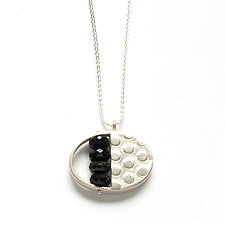 Split Oval Necklace with Onyx by Ashka Dymel (Jewelry Necklaces)