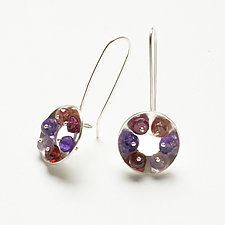 Domed Washer Earrings by Ashka Dymel (Silver & Stone Earrings)