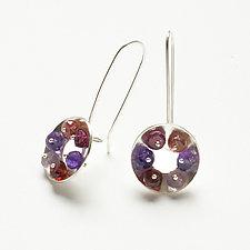 Domed Washer Earrings by Ashka Dymel (Silver & Stone Earrings)
