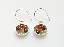 Small Oval Earrings by Ashka Dymel (Silver & Stone Earrings)