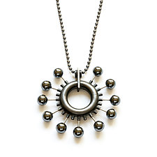 Wheel Necklace by Ashka Dymel (Silver & Stone Necklace)
