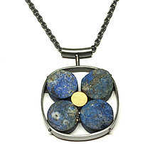 Lapis Necklace by Ashka Dymel (Silver & Stone Necklace)