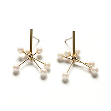 Vermeil Sputnik Earrings by Ashka Dymel (Gold & Stone Earrings)