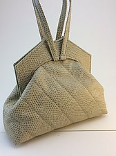 Sarah Evening Bag with Wristlet Handles by Michelle  LaLonde  (Leather Purse)