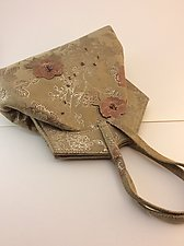 Sarah Evening Bag in Camel Fiore Lambskin by Michelle  LaLonde  (Leather Purse)