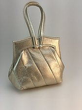 Elisa Evening Bag-Gold by Michelle  LaLonde  (Leather Purse)