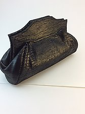 Samantha Evening Bag in Black Teju Lambskin by Michelle  LaLonde  (Leather Purse)