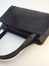 Myrna Handbag in Black by Michelle  LaLonde  (Leather Purse)
