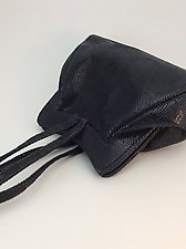 Halle Evening Bag-Midnight Wave by Michelle  LaLonde  (Leather Purse)