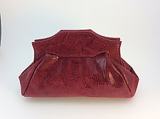 Samantha Evening Bag-Syrah Wave by Michelle  LaLonde  (Leather Purse)