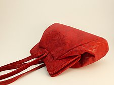 Halle Red Lace Lambskin Evening Bag by Michelle  LaLonde  (Leather Purse)