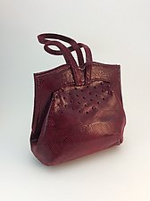 Elisa Evening Bag-Bright Burgundy by Michelle  LaLonde  (Leather Purse)