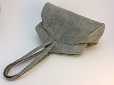Muriel Evening Bag-Gray Mix by Michelle  LaLonde  (Leather Purse)