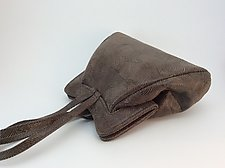 Halle Evening Bag in Taupe Wave Lambskin by Michelle  LaLonde (Leather Purse)