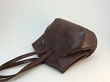 Elisa Evening Bag-Chestnut Wave by Michelle  LaLonde  (Leather Purse)