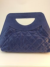 Lena Handbag in Mediterranean Blue by Michelle  LaLonde  (Leather Purse)